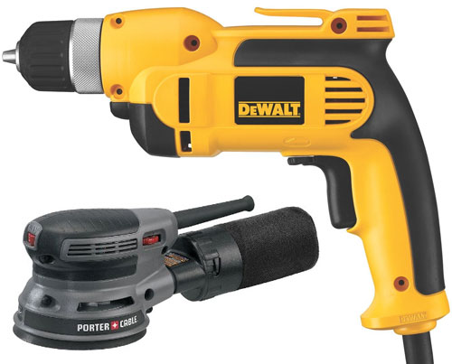 Dewalt Drill and Porter Cable Sander