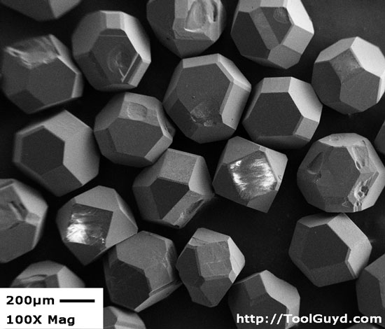 High Quality Diamond Particles 100x