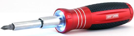 Craftsman LED-Lighted 6-in-1 Screwdriver