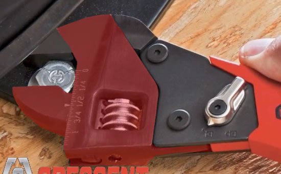Crescent Ratcheting Adjustable Wrench Mechanism Highlighted