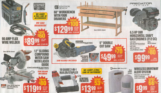 Harbor Freight Black Friday 2012