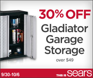 Gladiator Storage Sale at Sears