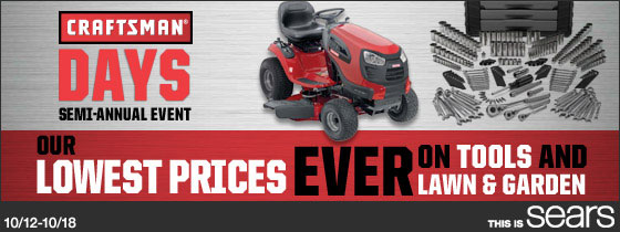 Sears October Sales Event