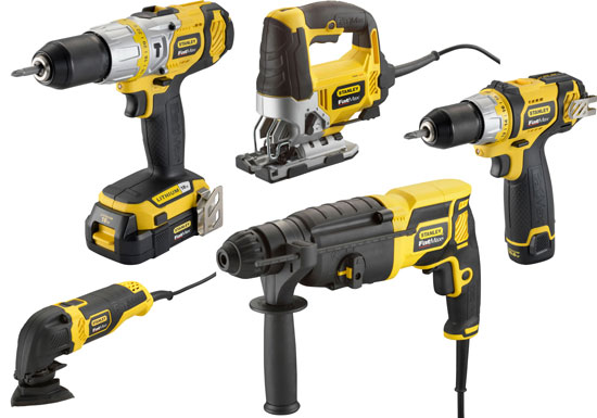 Yellow And Black Colored Stanley Fatmax Power Tools Now