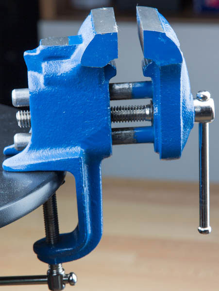 Yost Clamp-on Vise on Stool