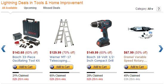 Amazon Tool Lightning Deals 11-29-12 Page 1