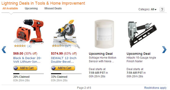 Amazon Tool Lightning Deals 11-29-12 Page 2