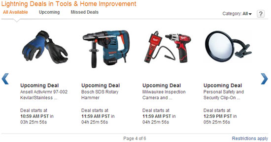 Amazon Tool Lightning Deals 11-29-12 Page 4