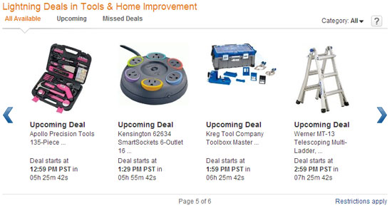 Amazon Tool Lightning Deals 11-29-12 Page 5