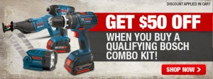 Holiday Deal: $50 off Bosch Cordless Combos at CPO