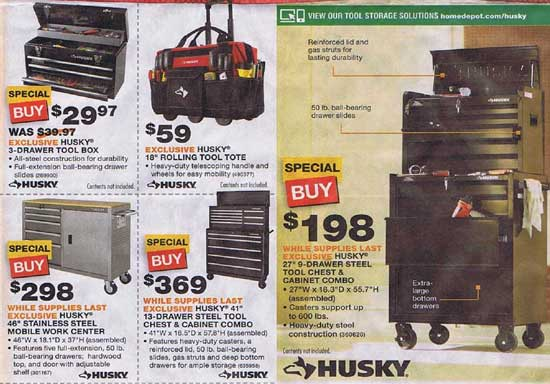 home depot black friday: husky tool chest home depot black friday