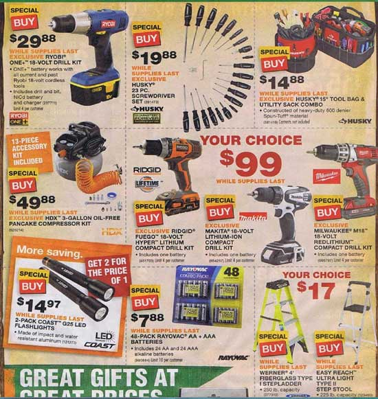 Home Depot Black Friday 2012 Tool Deals 15