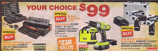 Home Depot Black Friday 2012 Tool Deals 2
