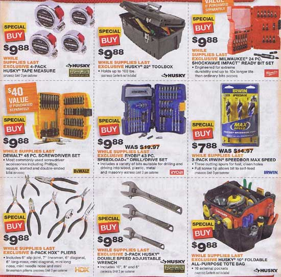 Home Depot Black Friday 2012 Tool Deals 5