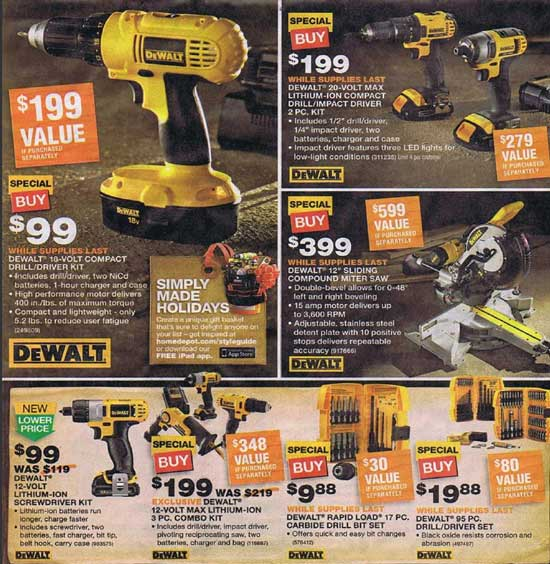 Home Depot Black Friday 2012