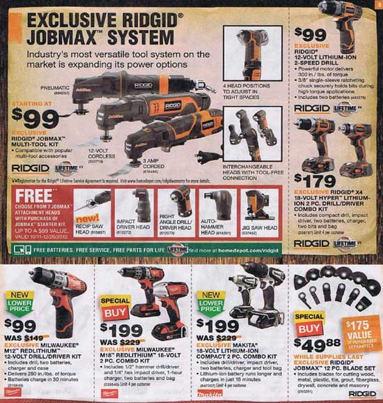 Home Depot Black Friday 2012 Tool Deals 9