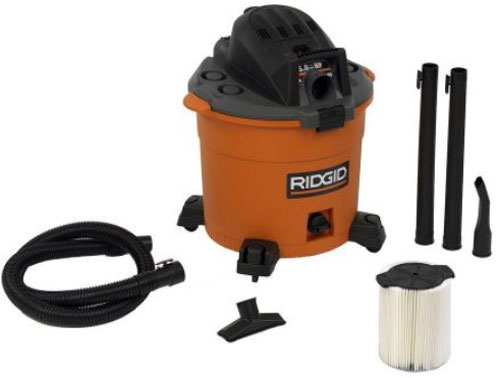 holiday deal: ridgid wet/dry shop vacuum for $59 at home depot