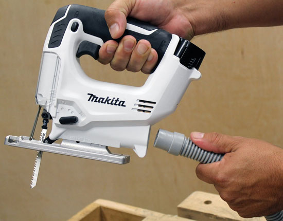 Makita 12V VJ01W Cordless Jig Saw Dust Port