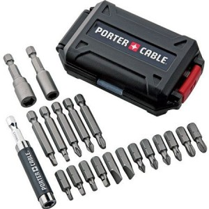 Black Friday Deal: Porter Cable 20pc Bit Set with Hard Case for $5!