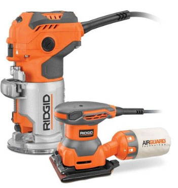 Cyber Monday Deal Ridgid Trim Router Amp Free Sander For 88