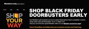 Sears Black Friday 2012 Doorbusters on Sale Now!!