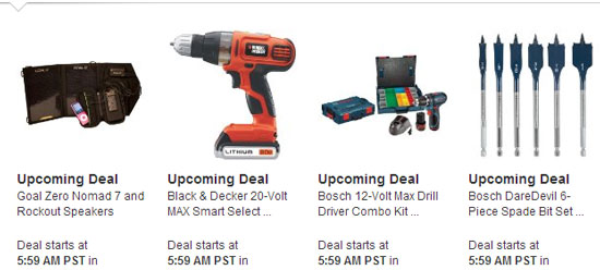 Amazon Tools Lightning Deals 12-12-12 3
