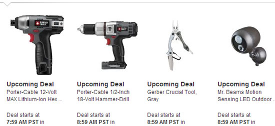 Amazon Tools Lightning Deals 12-12-12 5