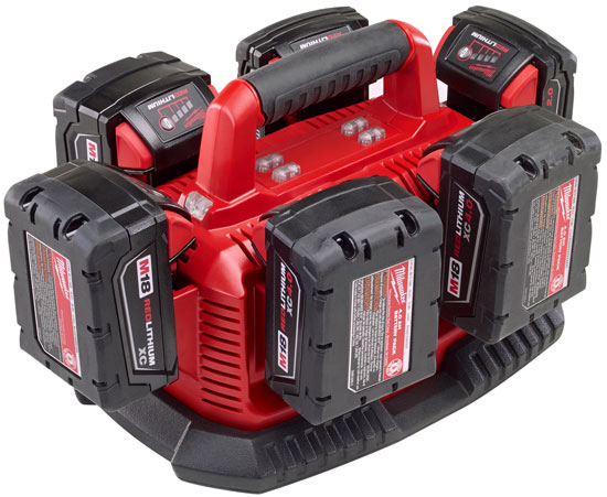 New Milwaukee M18 Six Pack Battery Charger