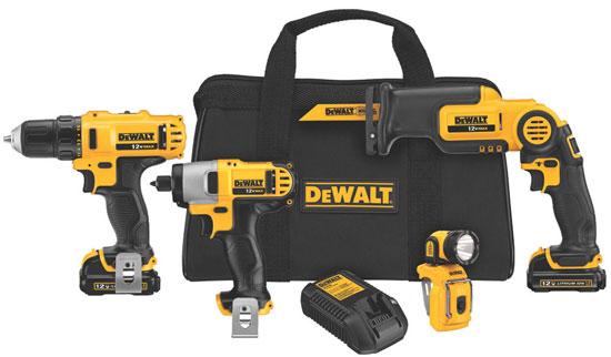 Dewalt 12V 4-Tool Combo Kit DCK413S2