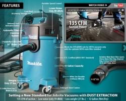 Makita Xtract Vac Dust Extractor Vacuum