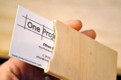 One Project Closer DIY Wood Business Card Holder