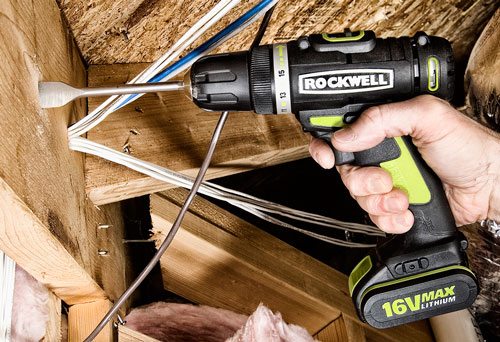 More than 12V, not Quite 18V – New Rockwell 16V Drill and Impact Driver