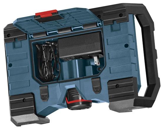 new bosch super compact 12v jobsite radio. Black Bedroom Furniture Sets. Home Design Ideas