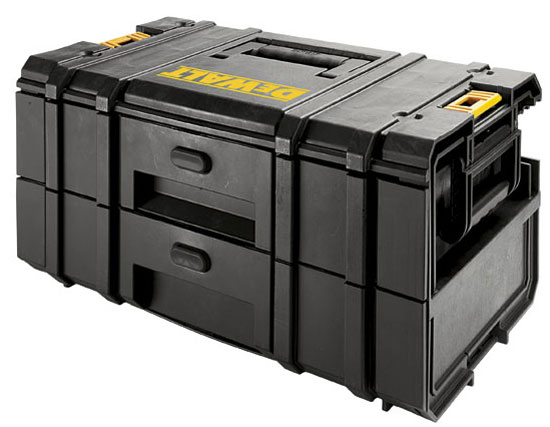 new dewalt toughsystem 2 drawer tool box dwst08225 ds250. Black Bedroom Furniture Sets. Home Design Ideas