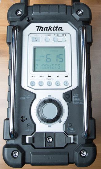 Makita Jobsite Radio LXRM03B Front Controls