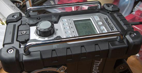 Makita Jobsite Radio LXRM03B Rugged Front