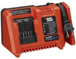 "Black & Decker 20V Fast Charger with ""Flash Charge"" Technology"