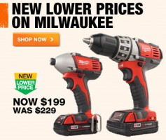 Milwaukee M18 Drill & Impact Driver Combo Kit Price Drop