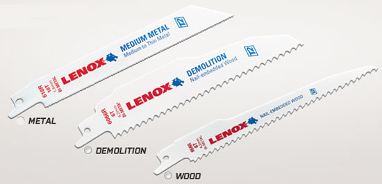 Free Lenox Reciprocating Saw Blade Sample