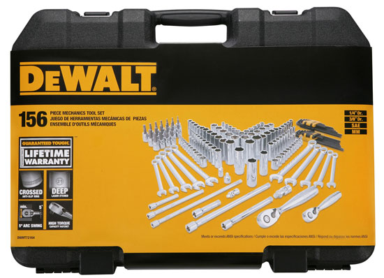 Dewalt 156pc Socket Set Case