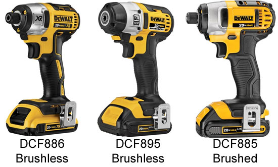 Best Cordless Impact Drivers on brushed motor vs brushless