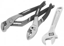 Hot Deal: Husky Pliers and Adjustable Wrench 3pc Tool Set for $10