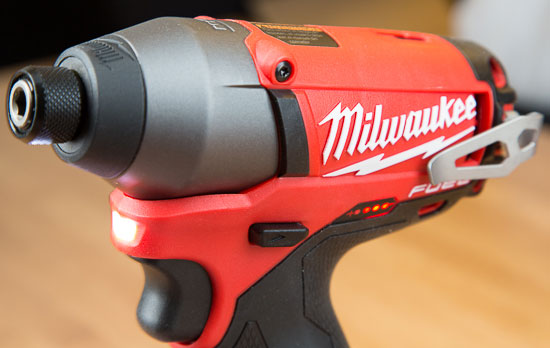 Milwaukee M12 Fuel Impact Driver Fuel Gauge and LED