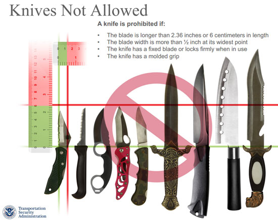 Tsa Small Knife Guidelines Have Been Delayed