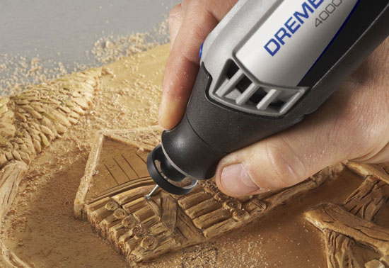 Dremel Dust Blower Attached to 4000 Rotary Tool