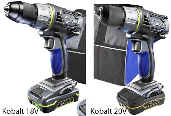 Kobalt 18V vs 20V Drill Driver Comparison