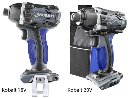Kobalt 18V vs 20V Impact Driver Comparison