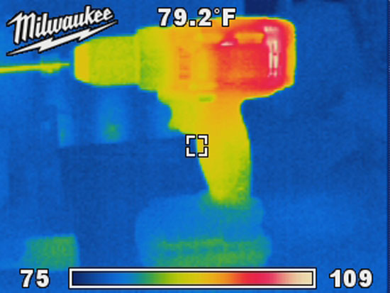 Thermal Image of a Cordless Drill