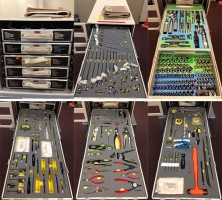 A Look at the Tools Inside a Space Station Tool Box