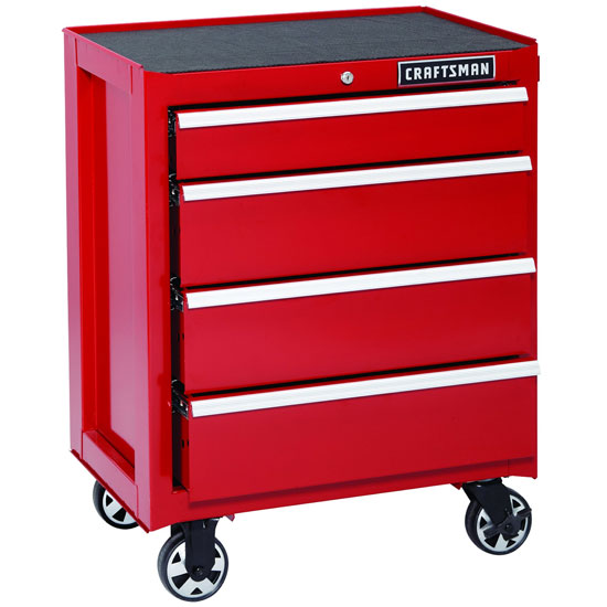 Craftsman Red Griplatch DynaGlide Ball Bearing Rolling Storage